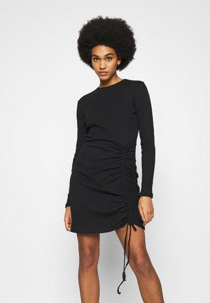 DRAWSTRING DRESS - Jerseykjole - black