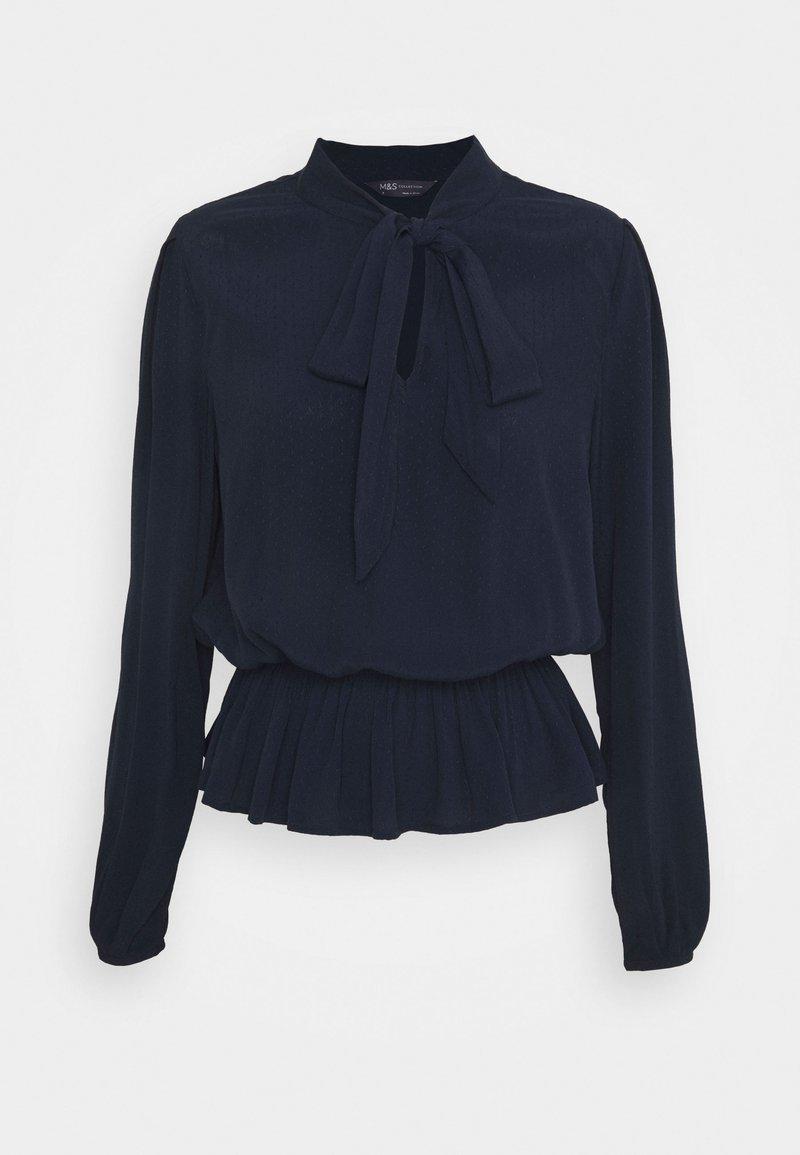Marks & Spencer London - PLAIN PEPLUM - Bluser - dark blue