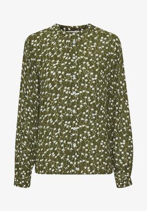 KADARIA - Button-down blouse - capulet olive / chalk flower