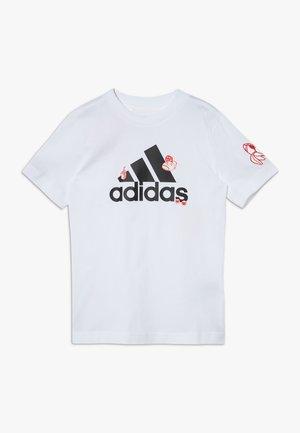 BADGES - Print T-shirt - white