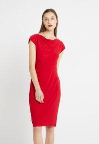 Lauren Ralph Lauren - MID WEIGHT DRESS - Shift dress - parlor red - 0
