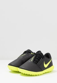 Nike Performance - PHANTOM CLUB TF - Astro turf trainers - black/volt