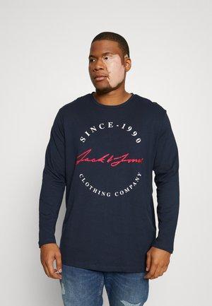JJHERRO TEE CREW NECK - Bluzka z długim rękawem - navy blazer