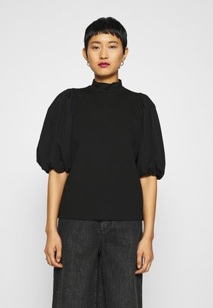 BIMA TURTLENECK - Print T-shirt - black