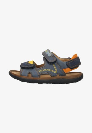 Walking sandals - navy yellow