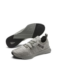 Puma - PUMA FLYER RUNNER ENGINEERED KNIT MEN'S RUNNING SHOES MALE - Trainers - ultra gray- white- black - 2