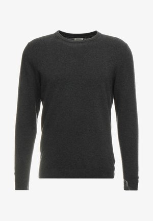 JJEBASIC - Strickpullover - dark grey melange