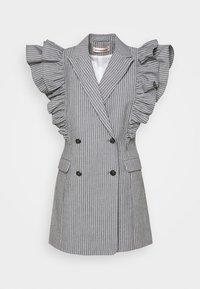 Custommade - KOBANE - Waistcoat - black/white - 6