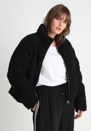 LADIES BOXY SHERPA PUFFER JACKET - Winter jacket - black
