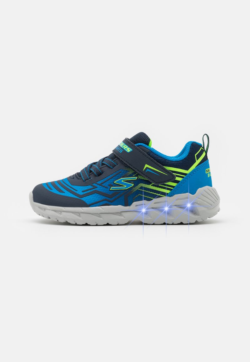 Skechers - MAGNA LIGHTS BOZLER - Trainers - navy/blue/lime
