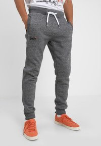 Superdry - Tracksuit bottoms - flint grey grit - 0