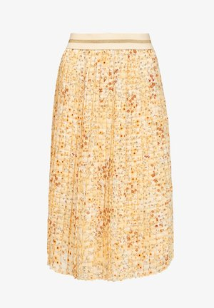 A-line skirt - sunlight yellow aop