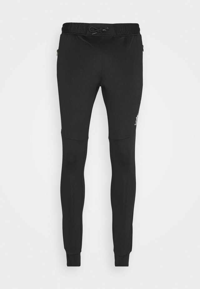 CHIBA TRACKSUIT BOTTOMS - Tracksuit bottoms - black/grey marl