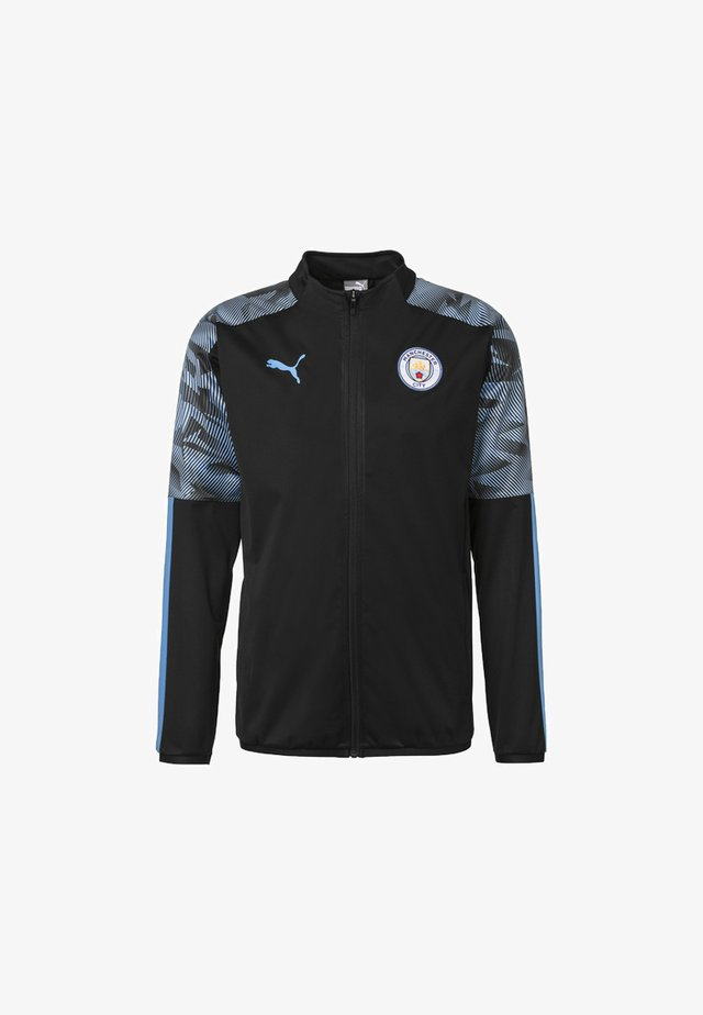Laufjacke - puma black-team light blue