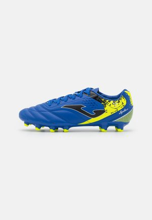 AGUILA - Moulded stud football boots - blue/yellow