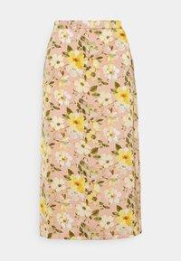 VIFLOWERY MIDI SKIRT - Pencil skirt - misty rose