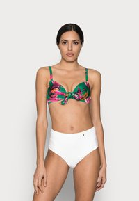 Pour Moi - PARADISOLIGHTLY PADDED UNDERWIRED FRONT TIE - Bikinitop - green - 1