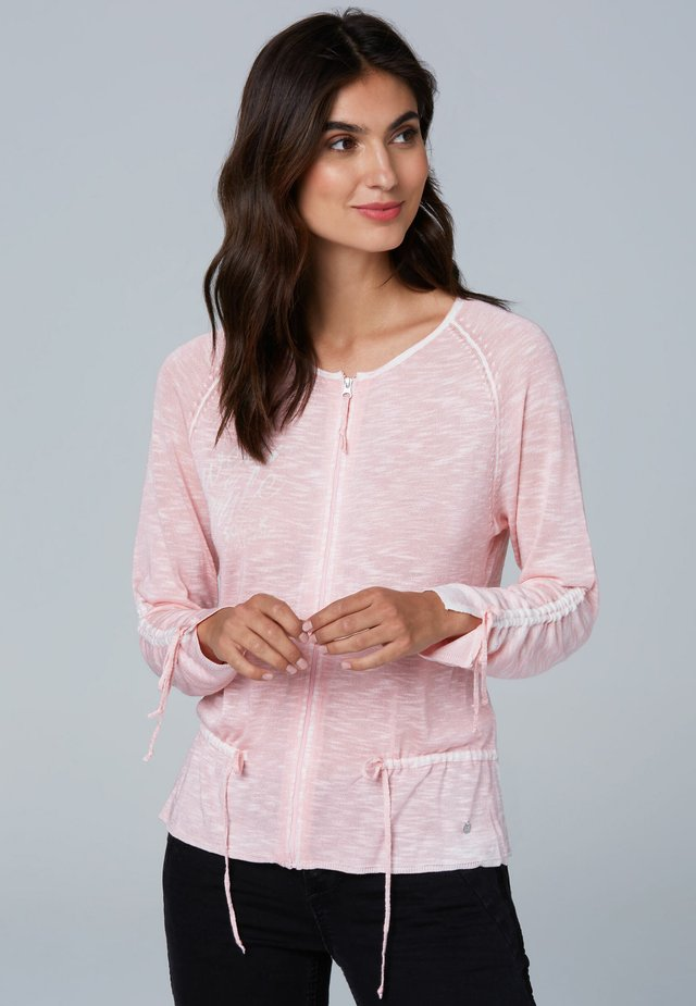 Cardigan - pale rose