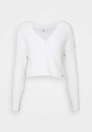 EASY CROP CARDI - Vest - white