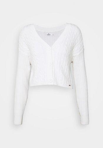 EASY CROP CARDI - Cardigan - white