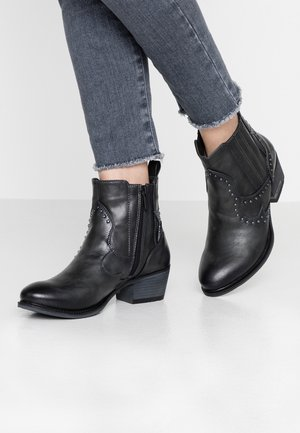 Cowboy/biker ankle boot - graphit