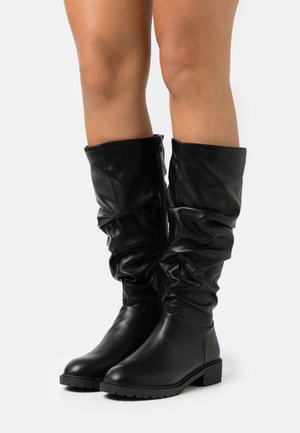 WIDE FIT CLOUD SLOUCH KNEE HIGH  - Vysoká obuv - black