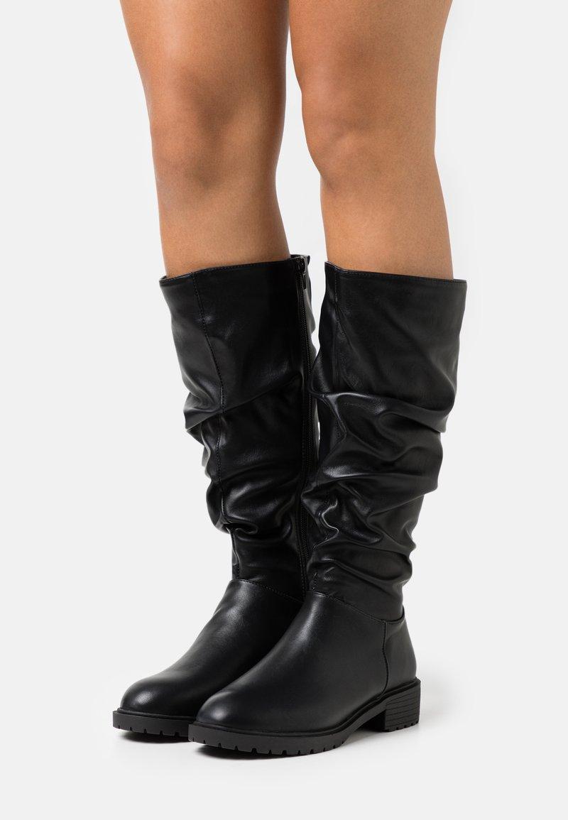 New Look Wide Fit - WIDE FIT CLOUD SLOUCH KNEE HIGH  - Laarzen - black