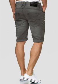 INDICODE JEANS - CUBA CADEN - Denim shorts - dark grey - 2