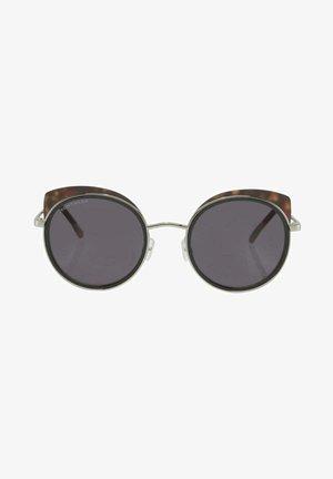 EYEWEAR RUNDE MIT GETÖNTEN  - Sunglasses - balck/havanna/silver