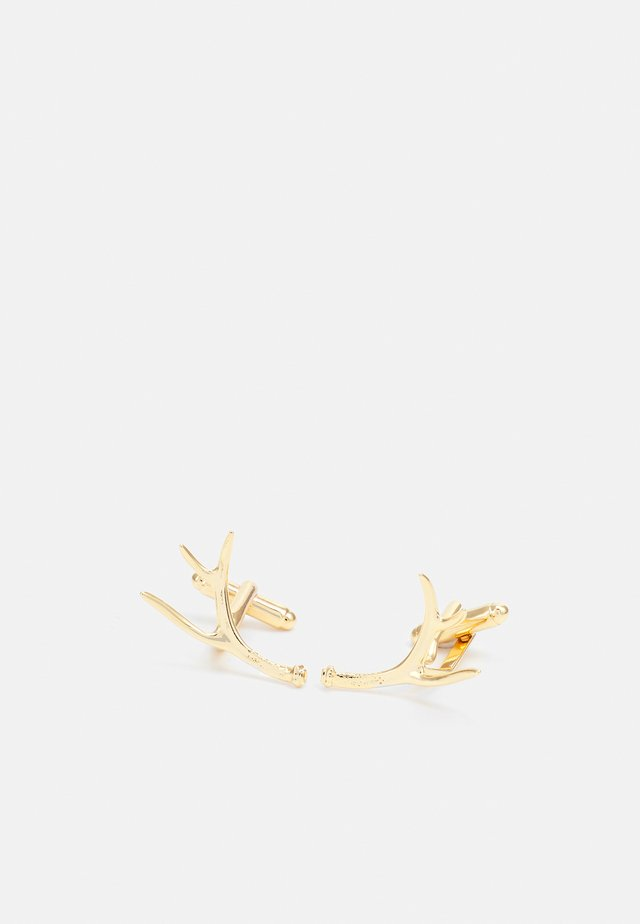 DANIEL ANTLER LINKS - Manchetknoop - gold-coloured