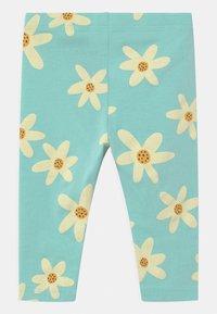 Lindex - FLOWER - Leggings - Trousers - dusty aqua - 1