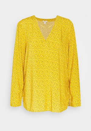 PRINT BLOUSE - Blouse - brass yellow