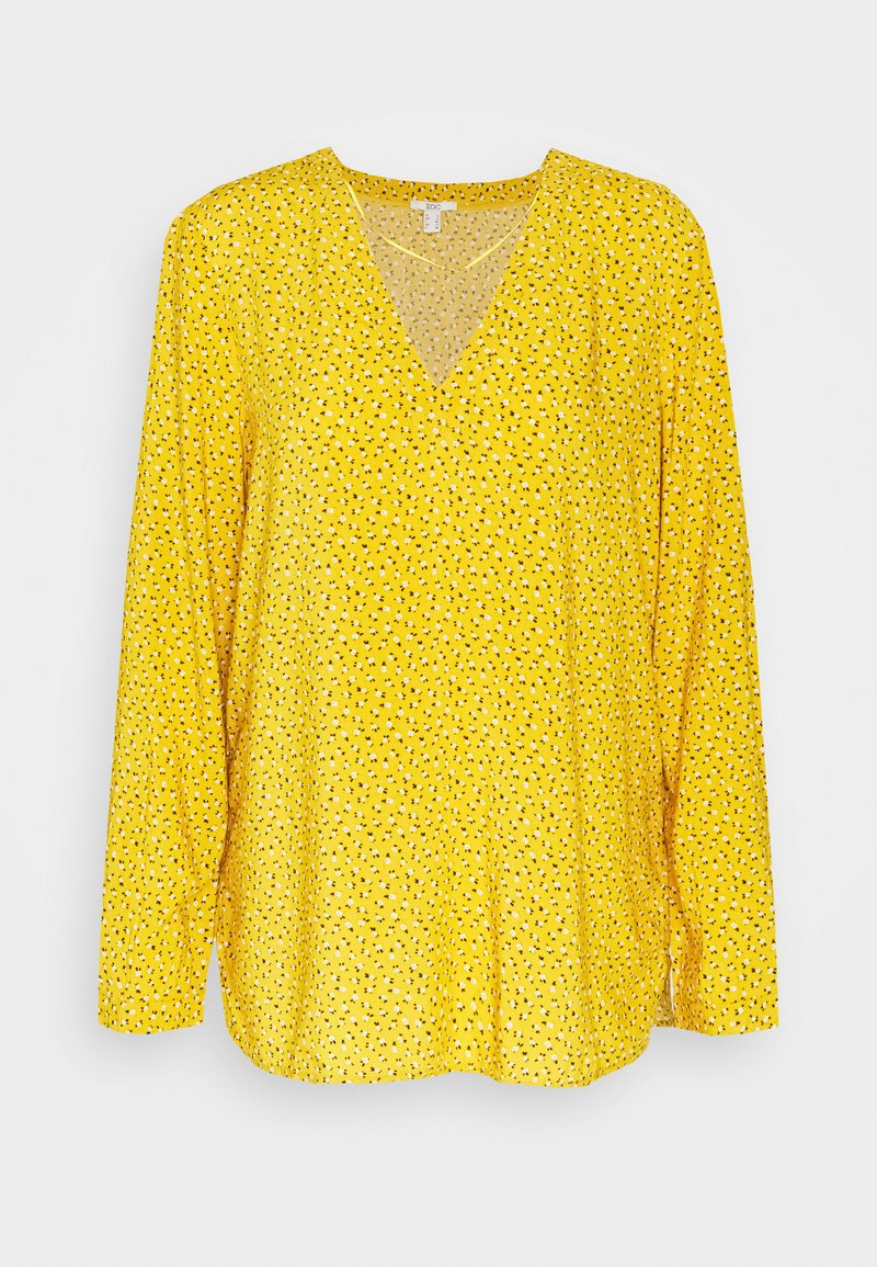 edc by Esprit - PRINT BLOUSE - Blouse - brass yellow