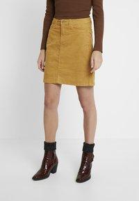 edc by Esprit - SKIRT - A-line skirt - amber yellow - 0