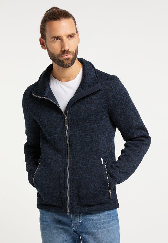 Fleece jacket - dunkemarine melange