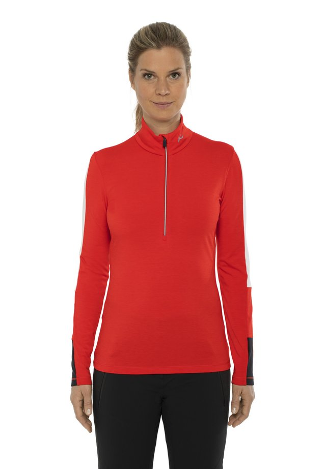 TRACE - Long sleeved top - fiery red-black