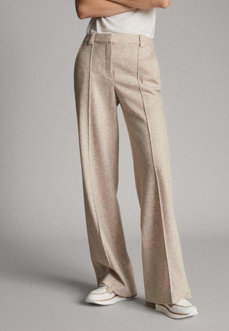 Massimo Dutti - MELIERTE  - Trousers - beige