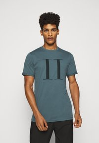 Les Deux - ENCORE  - Print T-shirt - blue fog/anthrazit - 0