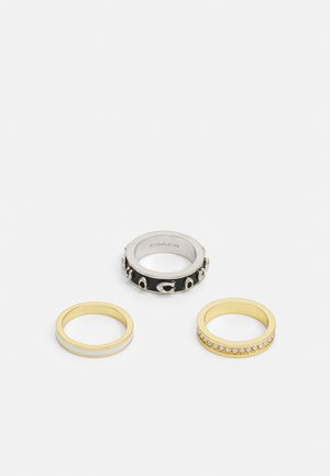 PEGGED 3 PACK - Bague - gold-coloured/black