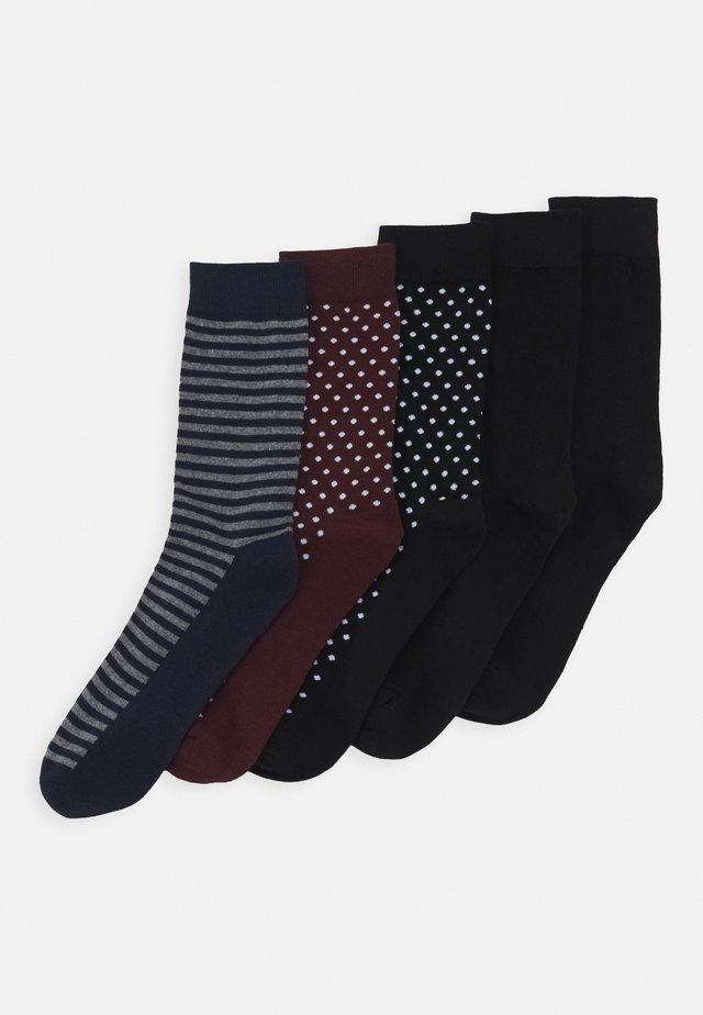 JACDOTS LINE SOCKS 5 PACK - Sokken - black