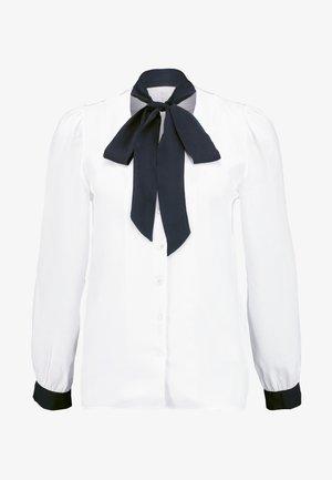 FOULARD DETAILED - Button-down blouse - off white
