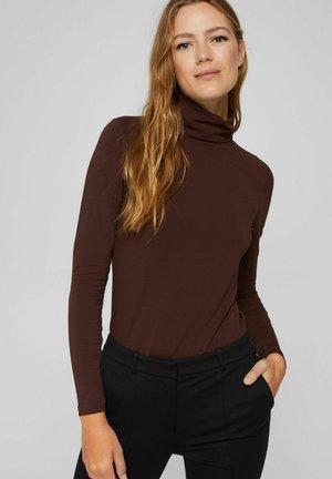 REGULAR FIT - Long sleeved top - rust brown