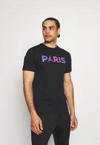 Nike Performance - PARIS ST GERMAIN WORDMARK TEE - Club wear - black - 0