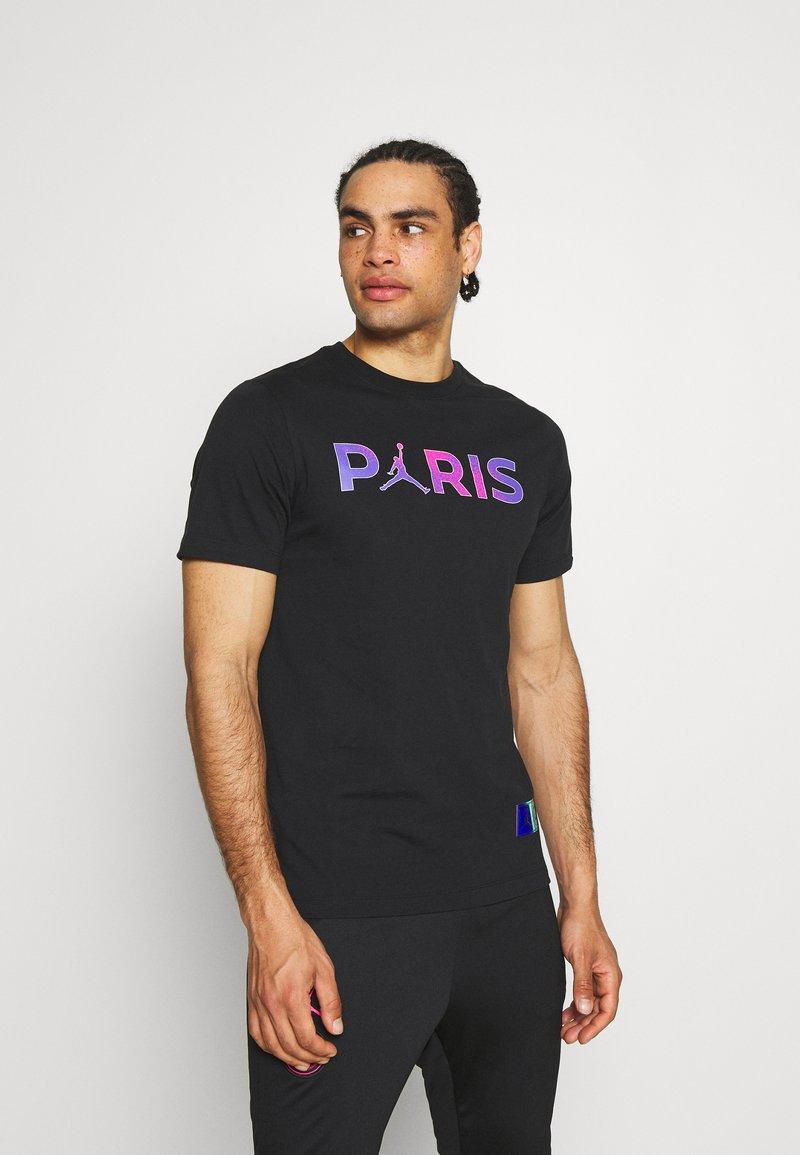 Nike Performance - PARIS ST GERMAIN WORDMARK TEE - Club wear - black