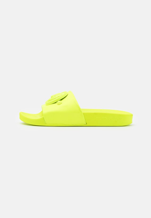 Kapcie - neon yellow