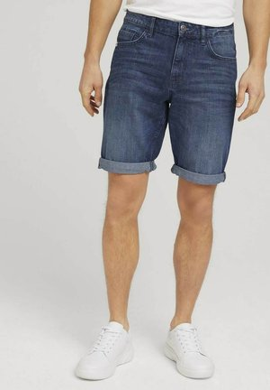 JOSH - Shorts di jeans - mid stone wash denim