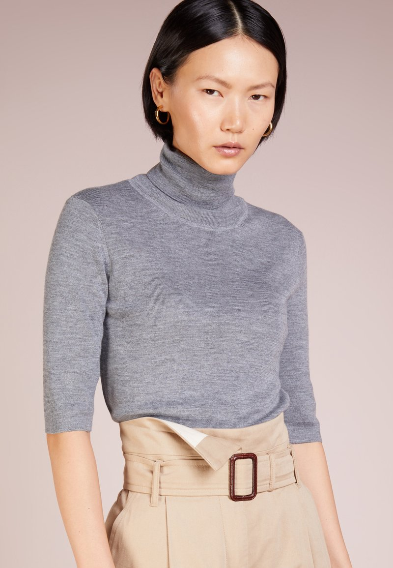 Filippa K - ELBOW SLEEVE - Basic T-shirt - mid grey