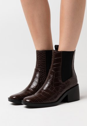 ONLBLUSH STRUCTUR BOOT  - Korte laarzen - brown