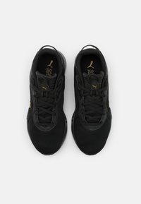 Puma - JARO FRESH - Neutral running shoes - black/team gold - 3