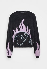 Blood Brother - PLACEMENT FLUFFYKNIT UNISEX - Jumper - black - 0